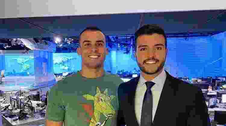 O jornalista Matheus Ribeiro e o namorado Yuri Piazarollo - Reprodução/Instagram - Reprodução/Instagram