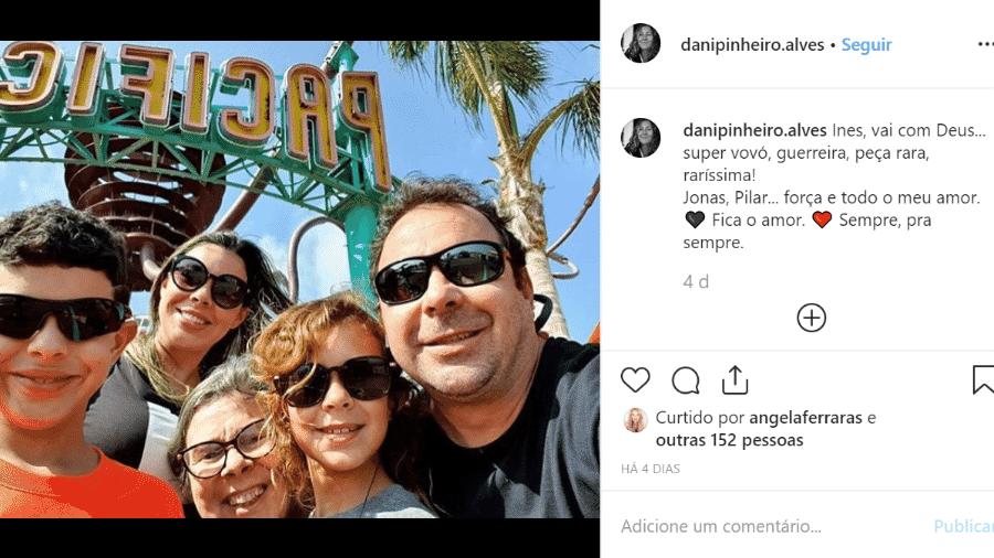 Dona Maria Ines, mãe do ator Caio Junqueira, morreu no Rio de Janeiro - Reprodução/Instagram