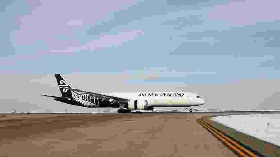 Aeronave da Air New Zealand, companhia mais vem avaliada para viagens em 2020 - Reprodução/Facebook