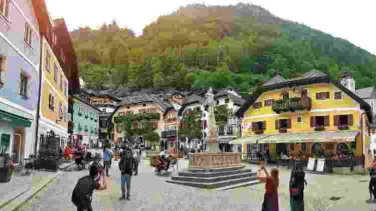 Market Square, em Hallstatt, na Áustria - iStock