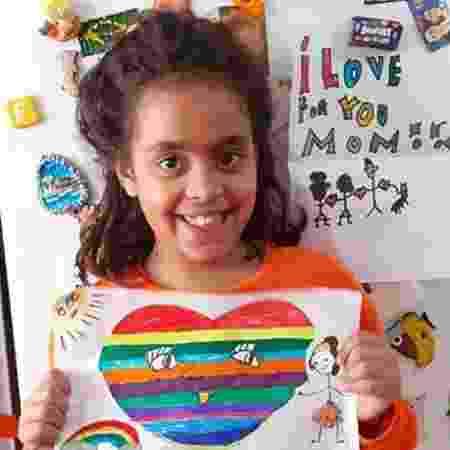 Giulia, de 8 anos, mora em Roma, Itália - Arquivo pessoal - Arquivo pessoal