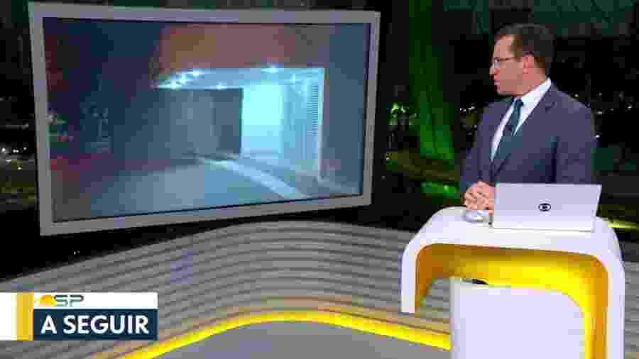 Rodrigo Bocardi, durante apresentação do Bom Dia SP - Reprodução/TV Globo