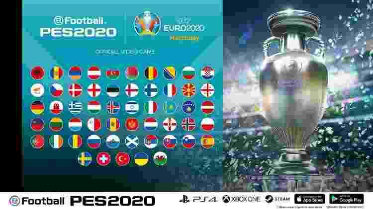 PES 2020 EURO - Divulgação/Konami - Divulgação/Konami