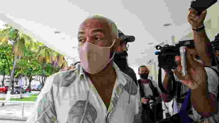 Belo chegando na Cidade da Polícia, na Zona Norte do Rio de Janeiro - AgNews / AgNews - AgNews / AgNews