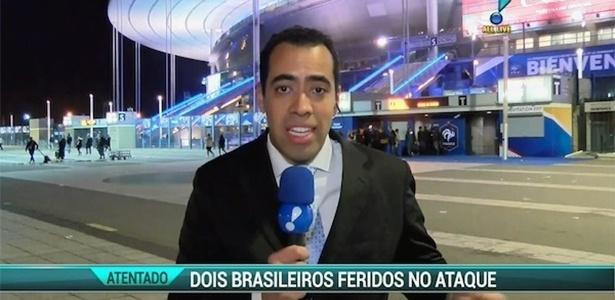 """Repórter Marcos Clementino entra ao vivo no """"RedeTV! News"""" na noite de sexta-feira (13) - Reprodução/RedeTV!"""