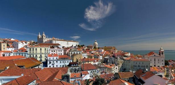 Vista aérea da cidade de Lisboa, capital de Portugal