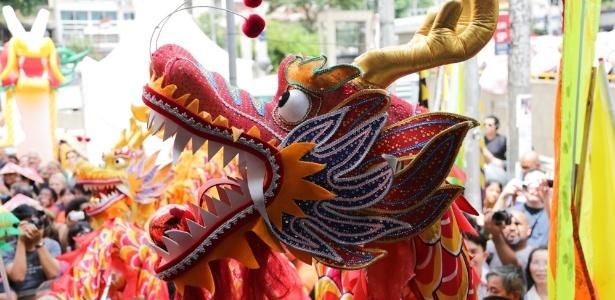 Festa do Ano Novo chinês em 2015, na Liberdade - Rafael Salvador