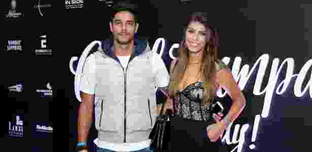 Diego Grossi e sua mulher Franciele Almeida - Roberto Filho e Marcos Ferreira/Brazil News