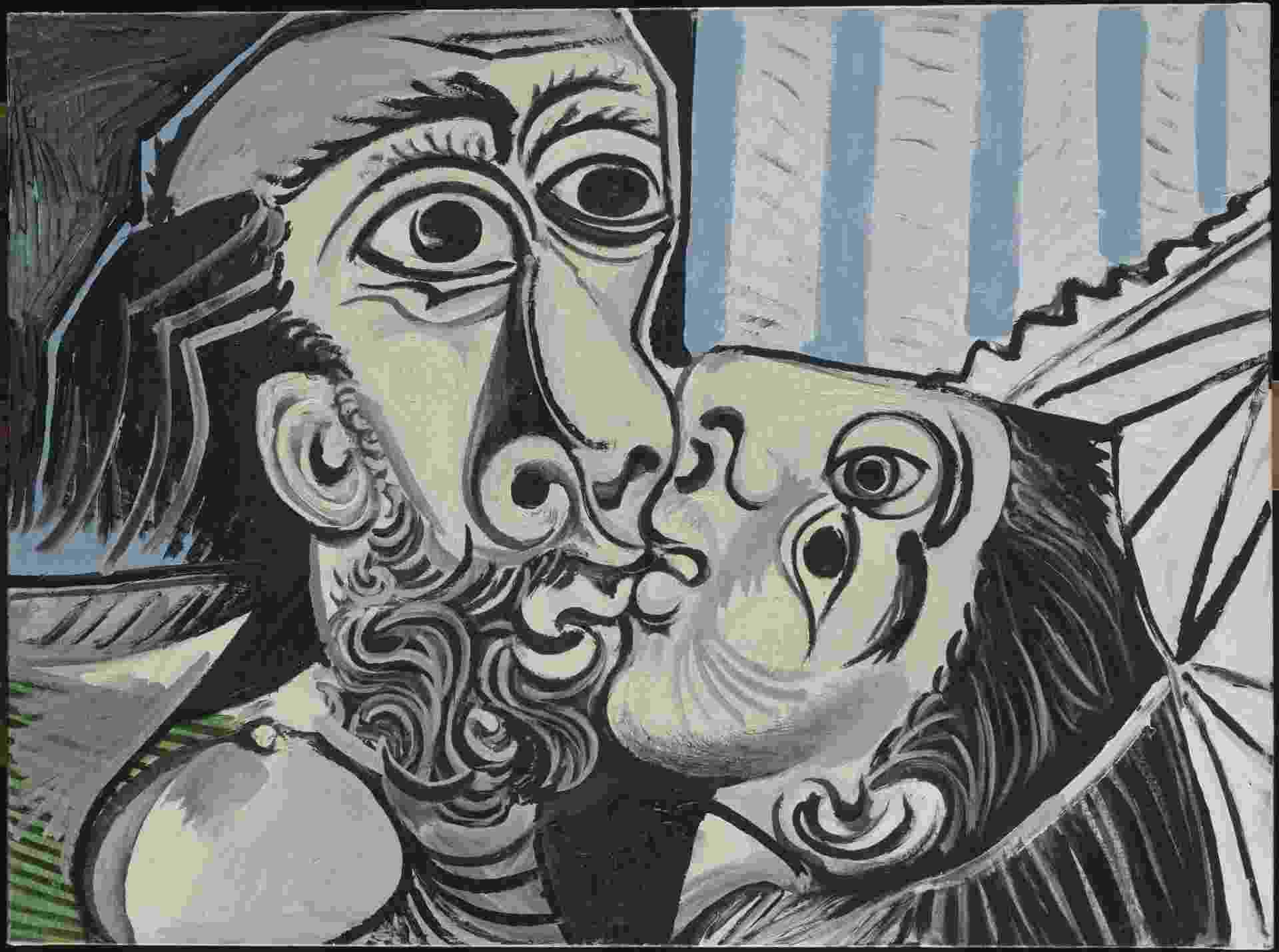 Le Baiser Mougins, 1969, de Pablo Picasso. Musée national Picasso-Paris - RMN-Grand Palais (Musée national Picasso-Paris) / Berizzi Jean-Gilles © Succession Picasso, 2015 © Succession Pablo Picasso / AUTVIS, Brasil, 2016