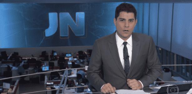 O jornalista Evaristo Costa - Reprodução/TV Globo