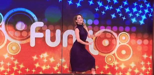 Sandy dança funk em rede nacional após ser desafiada por marido - Reprodução/TV Globo