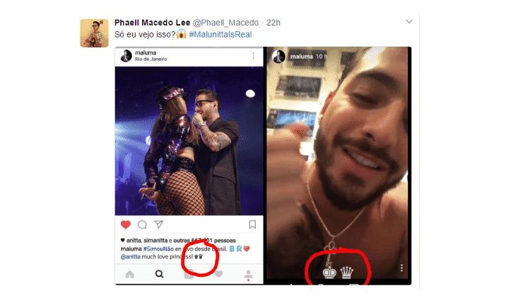 Fãs procuram provas de que Anitta e Maluma estão juntos - Reprodução/Twitter - Reprodução/Twitter