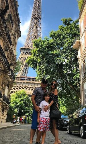 Otávio Mesquita férias com filhos