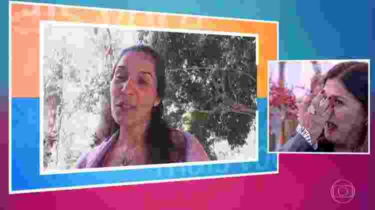 """Elizângela se emociona com depoimento da filha Marcelle no """"Mais Você"""" - Reprodução/Globo - Reprodução/Globo"""