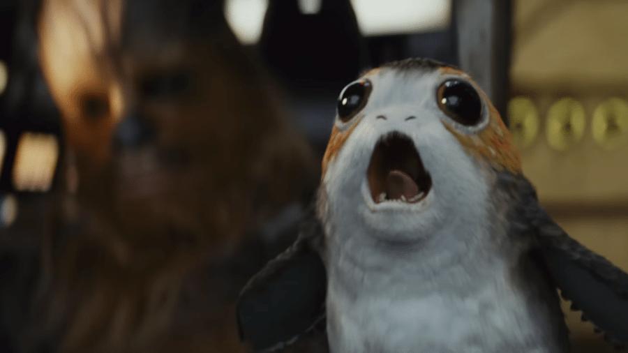 """Porg em cena de """"Star Wars: Os Últimos Jedi"""" - Reprodução"""