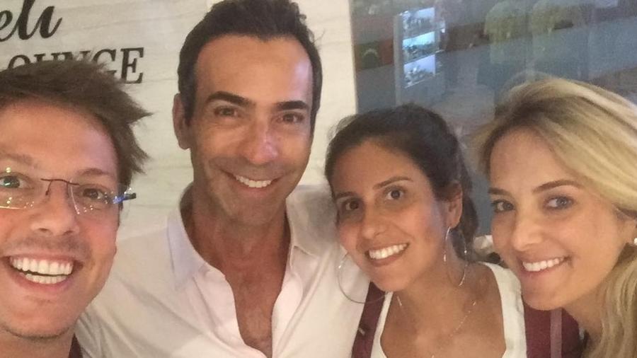Fábio Porchat, Cesar Tralli, Nataly Mega e Ticiane Pinheiro - Reprodução/Instagram