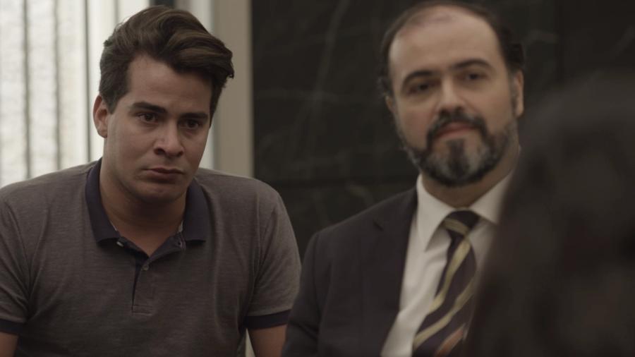 """Júlio (Thiago Martins) vai a julgamento em """"Pega Pega"""" - Reprodução/GShow"""
