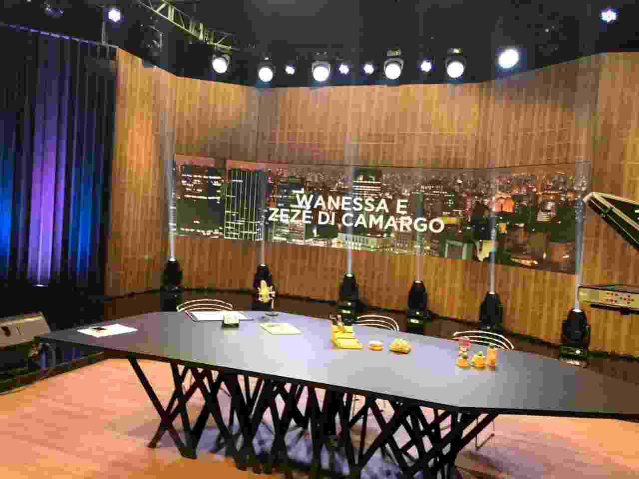 Cenário do programa Amaury Jr na Band - Divulgação
