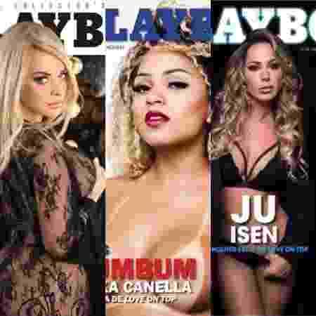 """Silvio Santos mostra revistas """"Playboy"""" com trio de subcelebridades - Divulgação - Divulgação"""