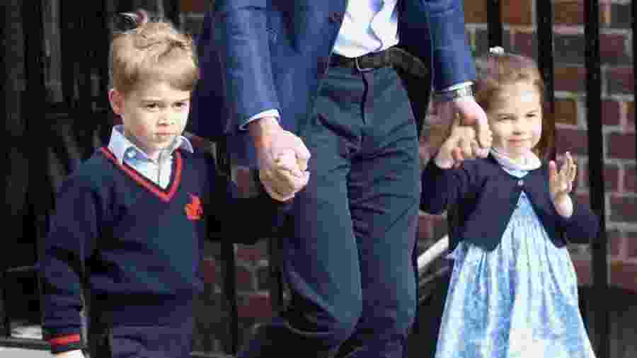 Príncipe George e a princesa Charlotte - Getty Images