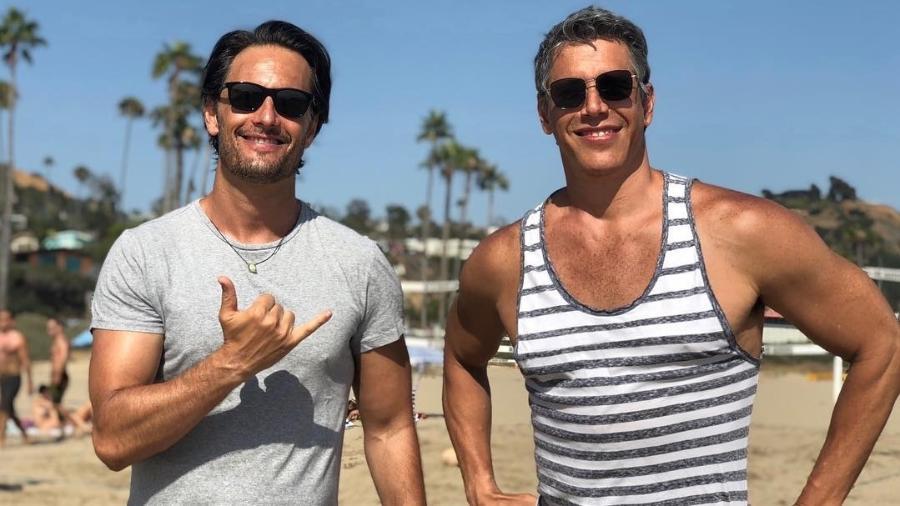 Márcio Garcia e Rodrigo Santoro curtem dia nos Estados Unidos - Reprodução/Instagram