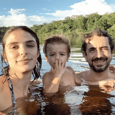 Rafa Brites, Felipe Andreoli e Rocco curtem a Amazônia - Reprodução/Instagram