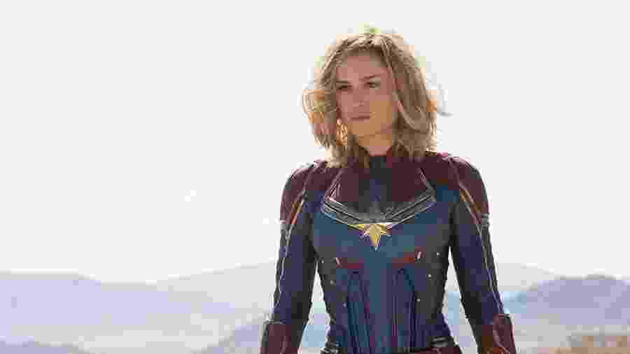 """Bruie Larson como Carol Danvers em """"Capitã Marvel"""" - Divulgação"""