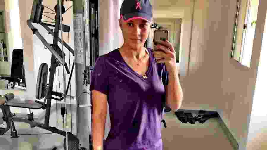 A musculação deu força para Paula Martins superar o câncer - Arquivo Pessoal