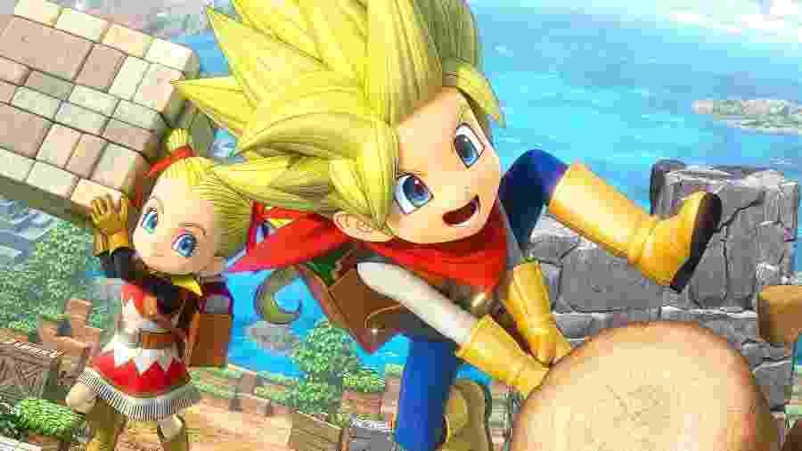 """""""Dragon Quest Builders 2"""" é como se o RPG da Square virasse """"Minecraft"""" - Divulgação"""