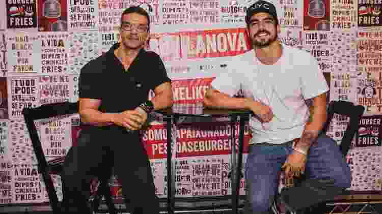 Sandro Andrade e Caio Castro - Wellington/ Divulgação