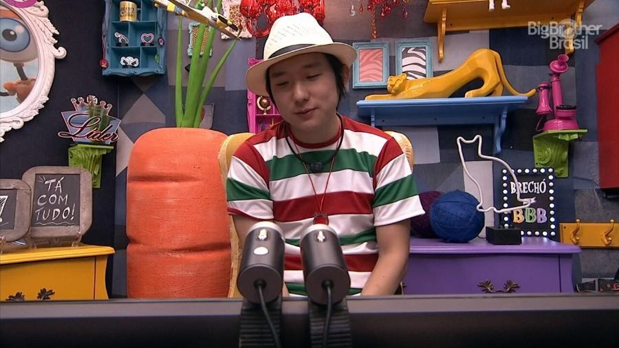 BBB 20 - Após festa, Pyong manda mensagem para esposa no raio-x - Reprodução/Globoplay