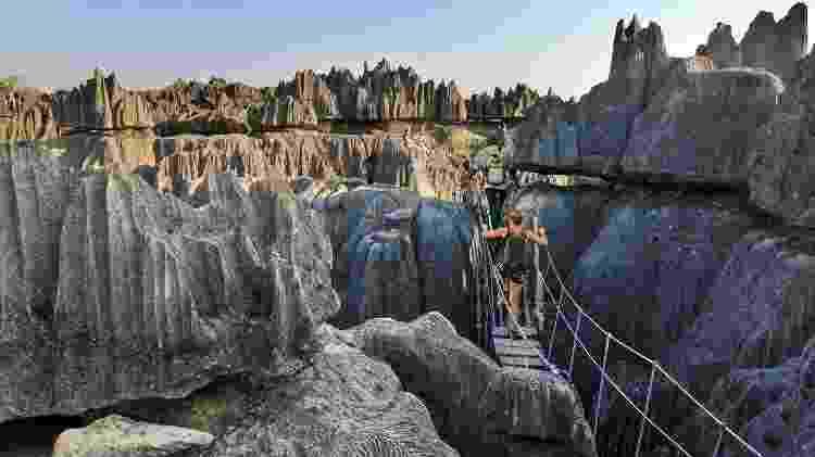 """""""Floresta de Pedra"""", em Madagascar, é cenário surpreendente - Getty Images"""