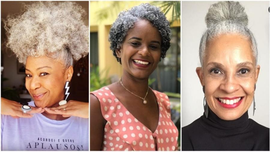 Wladia, Irlana e Mônica contam suas experiências ao assumirem os cabelos brancos - Acervo pessoal