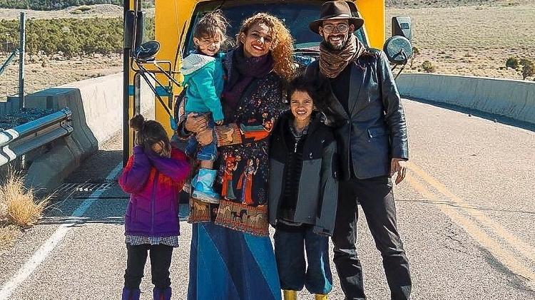 Família Reis desbrava os Estados Unidos com um ônibus escolar - Reprodução/Instagram - Reprodução/Instagram