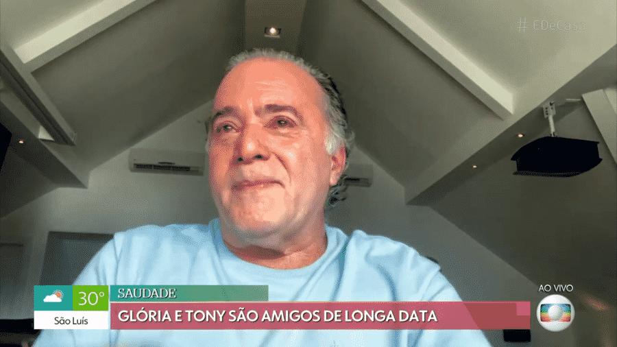 """Tony Ramos se emociona com aparição de Gloria Menezes no """"É de Casa"""" - Reprodução/Globoplay"""