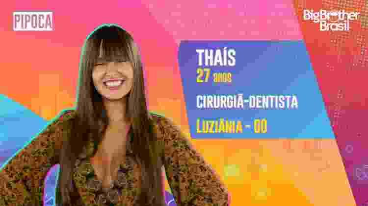 Thaís no BBB 21 - Divulgação - Divulgação