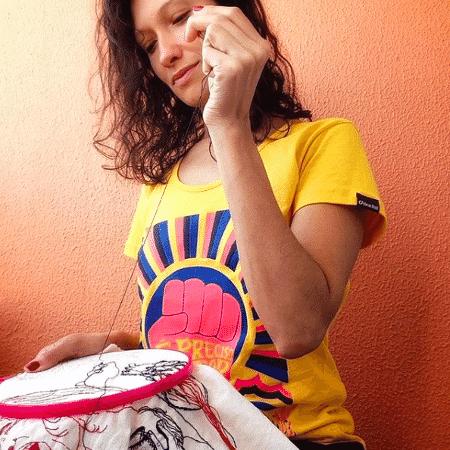 Bordado da quarentena de Karina Ribeiro - Reprodução Instagram - Reprodução Instagram