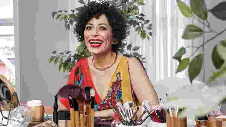 Fabi Gomes durante as gravações do programa E aí, Beleza? - Mariana Pekin/UOL - Mariana Pekin/UOL
