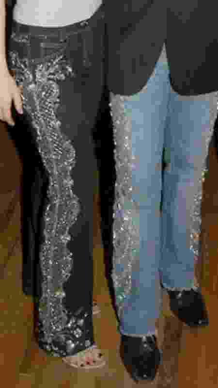 Couture Swarovski Crystal Jeans - Reprodução - Reprodução