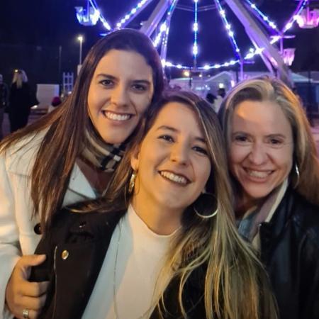 Thalita Ebert, Caroline e Helena - Acervo pessoal/Instagram