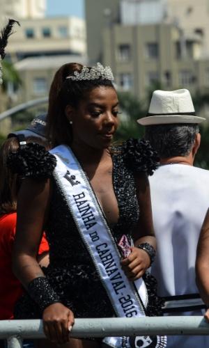 06.fev.2016 - Ludmilla é a rainha do bloco Cordão da Bola Preta, o mais antigo do Rio de Janeiro.
