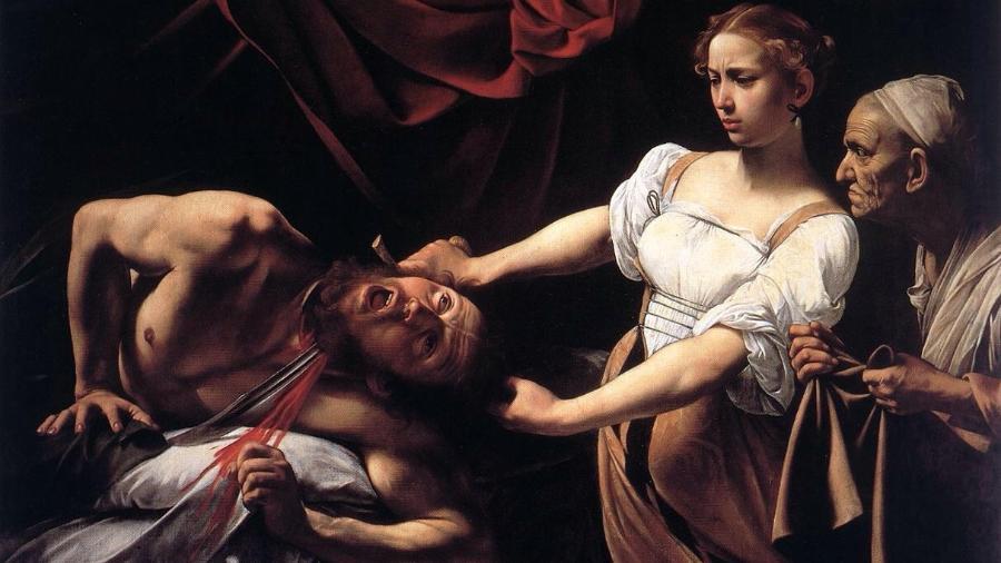 """Imagem do quadro """"Judite e Holofernes"""", do pintor italiano Caravaggio - Reprodução"""