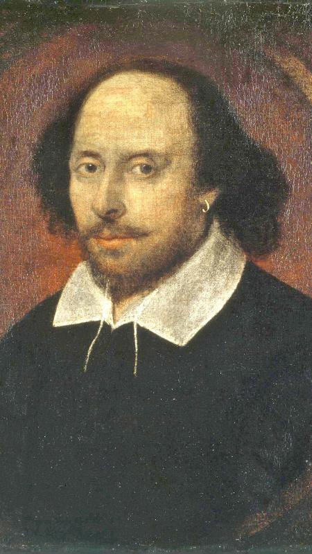 Retrato do escritor inglês William Shakespeare - Reprodução