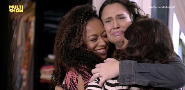 """Aretha Oliveira, Francis Helena e Fernanda Souza se emocionam em """"Vai, Fernandinha"""" - Reprodução/Multishow"""