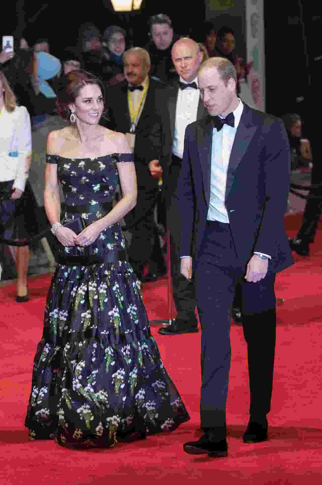 Kate Middleton e príncipe William no Bafta - Getty Images