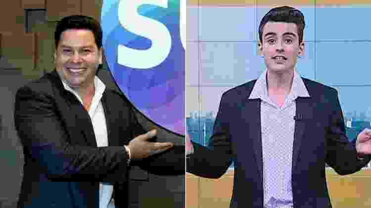 Marcão e Dudu Camargo  - Divulgação/Reprodução/SBT - Divulgação/Reprodução/SBT