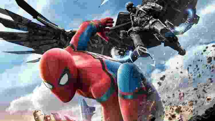 """Novo cartaz do filme """"Homem-Aranha - De Volta ao Lar"""" - Divulgação - Divulgação"""
