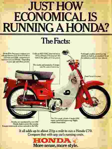 Anúncio da Honda de décadas atrás prova que motonetas práticas sempre foram sua maior sacada - Reprodução - Reprodução