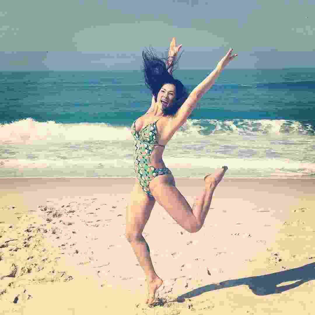 """""""Confesso que me sinto bem feliz estando magra. Tudo o que eu visto fica bom pra caramba!"""", comemora Suzana Alves - Reprodução/Instagram/@suzanaalvesoficial"""