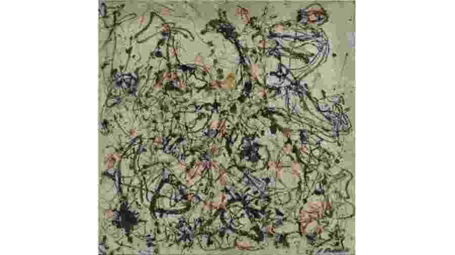 Obra do artista americano Jackson Pollock - Reprodução